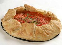Zapiekanka z pomidorami i serem kozim - ugotuj