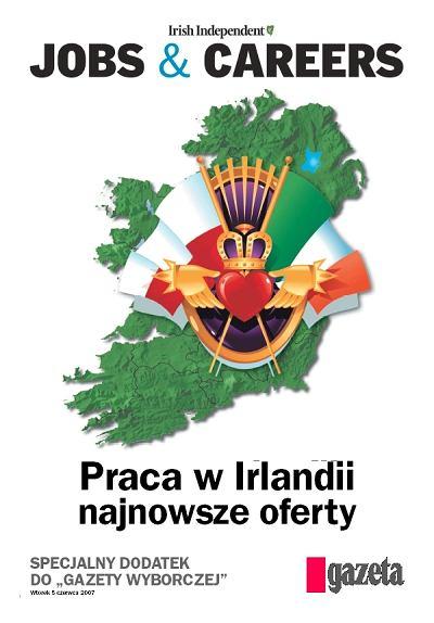 """Ogłoszenia o pracy z """"Irish Independent"""" ponownie w """"Gazecie Wyborczej"""""""