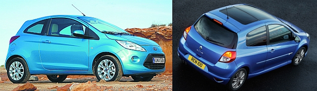 Ford Ka i Renault Clio