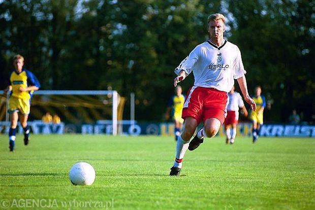 Andrzej Juskowiak podczas gry na stadionie w Grójcu, sierpień 200