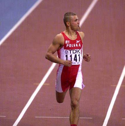 Tomasz Czubak podczas mistrzostw w Sewilli w 1999 r.
