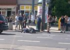 Zderzenie motocykla z samochodem na Stawkach