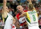 Marcin Gortat w meczu z Litwinami