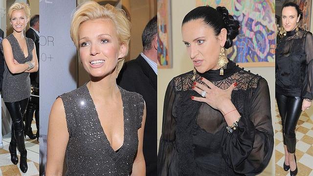 Magda Mołek i Kayah - obie zjawiły się na imprezie promującej nową linię kosmetyków, obie dość eleganckie, obie w legginsach. Która z nich wyglądała lepiej?