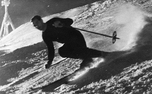 Józef Uznański na Kasprowym Wierchu, 1944 r.