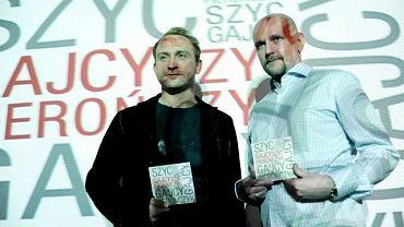 Borys Szyc i Adam Pierończyk podczas promocji płyty ''Gajcy, Szyc, Pierończyk''