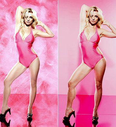 Zdjęcie numer 11 w galerii - Tak wygląda Beyonce bez Photoshopa. Ale najbardziej graficy przesadzili przy zdjęciach Kingi Rusin