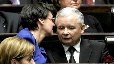 Jarosław Kaczyński i Joanna Kluzik-Rostkowska