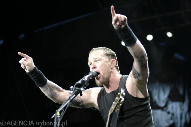 Metallica podczas koncertu w Chorzowie