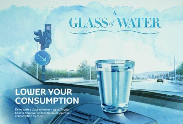 Szklanka wody oszczędza paliwo