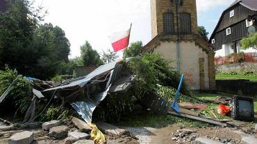 Bogatynia po przejściu fali powodziowej, 8 sierpnia 2010 r.