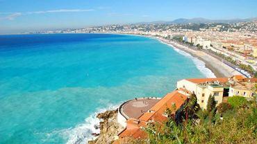 Zatoka Aniołów w Nicei widziana z Colline du Chateau