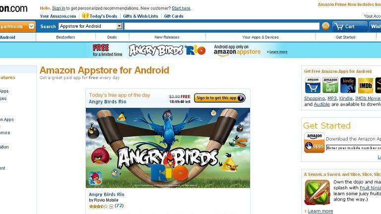 Amazon uruchomił swój sklep z aplikacjami dla Androida