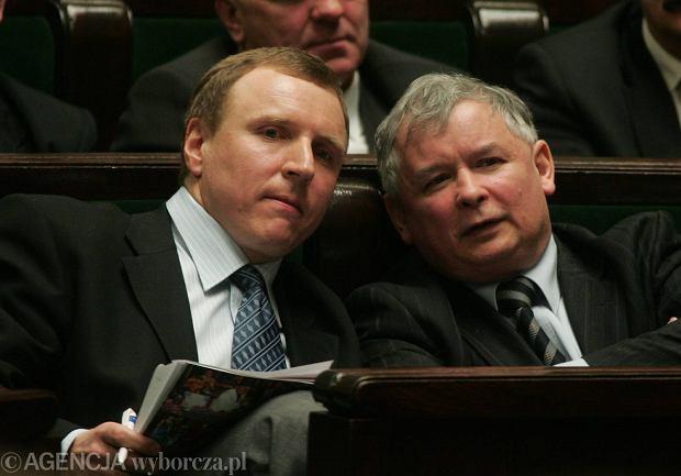Jacek Kurski i Jaros�aw Kaczy�ski w 2006 roku