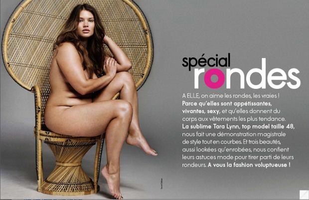 Tara Lynn w sesji Elle France marzec 20110 -