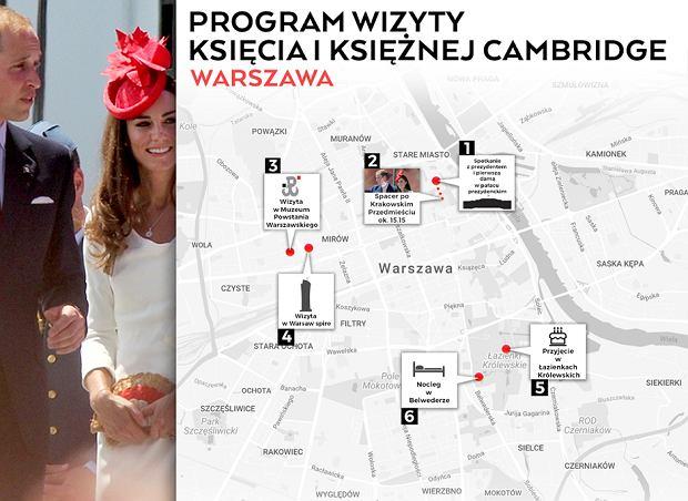 Plan wizyty pary książęcej w Warszawie