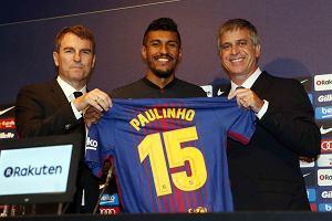 Paulinho ośmieszył się na prezentacji w Barcelonie