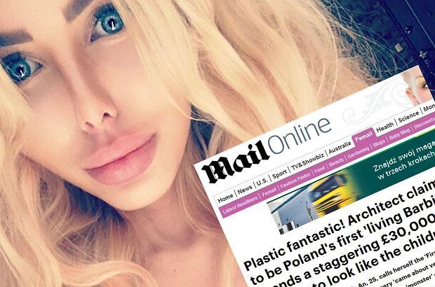 """Anella, czyli """"Polska Barbie"""", robi furorę. W Polsce jest zapraszana do telewizji śniadaniowych, udziela wywiadów. Teraz dotarła do Wielkiej Brytanii, gdzie piszą o niej w gazetach."""