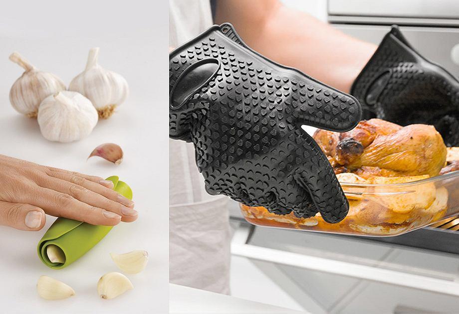 Silikonowe rękawice i obieraczka do warzyw