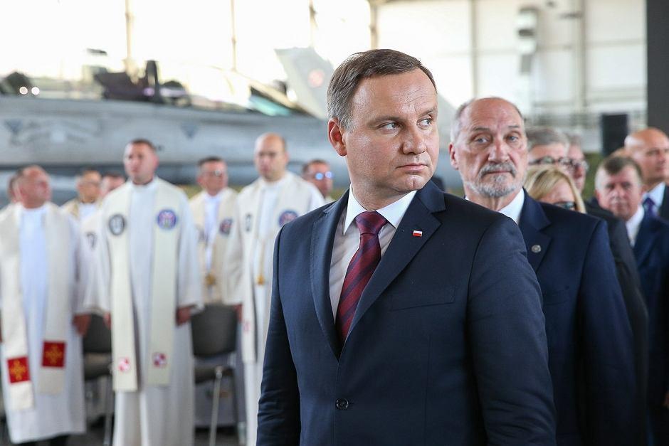 Andrzej Duda, Antoni Macierewicz w Krzesinach na Święcie Lotnictwa