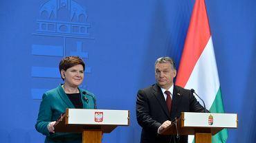Beata Szydło i Viktor Orbán