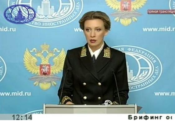 Konferencja rzeczniczki MSZ Rosji Anny Sacharowej