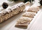 Wzorowo Wałek wykonany z drewna bukowego. Głębokie grawerowanie zapewnia doskonałe wzory, Merry Christmas Biscuit, 110 zł, Mood for Wood, moodforwood.pl