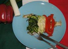 Gładzica z grilla ze spaghetti warzywnym - ugotuj