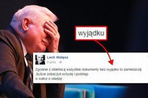 Lech Wa��sa w kolejnym wpisie na Facebooku ujawni�, �e mistrzem ortografii raczej nie jest. A jak wygl�da umiej�tno�� bezb��dnego pisania u innych znanych i powa�anych Polak�w? Wcale nie lepiej.