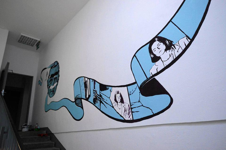 Czy to najd u szy mural w warszawie ma 70 metr w for Mural ursynow