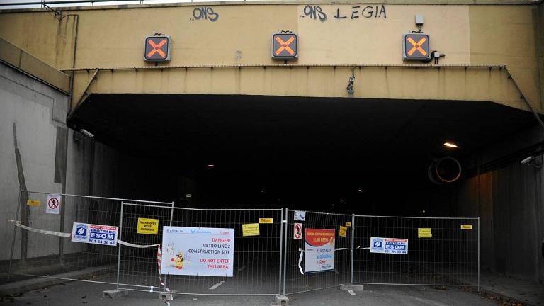 Zamknięty tunel Wisłostrady