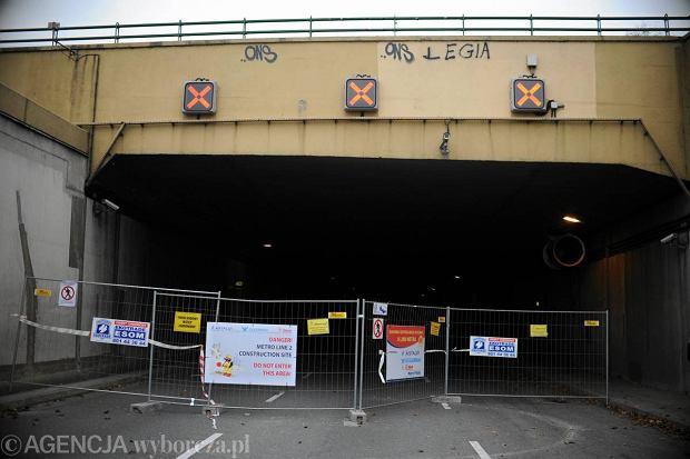 Zamkni�ty tunel Wis�ostrady