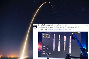 Chińczycy tworzą własną rakietę wielokrotnego użytku. Chcą konkurować ze SpaceX Elona Muska