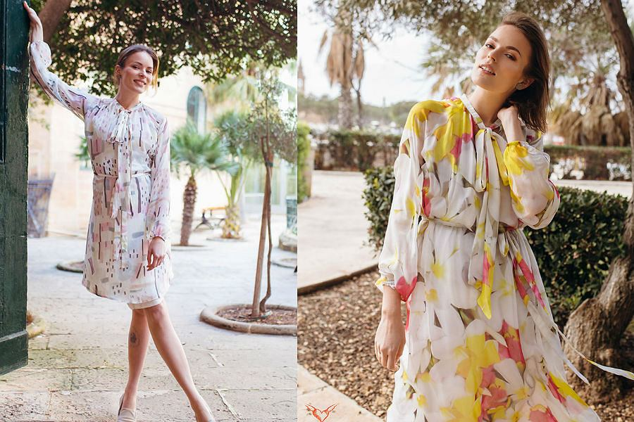 Sukienki z nowej kolekcji zachwycają wzorami