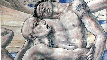 """Fragment fresku w katedrze Wniebowzięcia Najświętszej Marii Panny w Terni autorstwa Ricardo Cinalli pt. """"Zmartwychwstanie"""""""