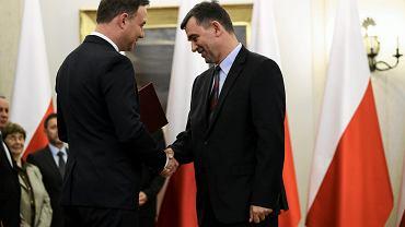Prezydent Andrzej Duda i prof. Andrzej Przyłębski