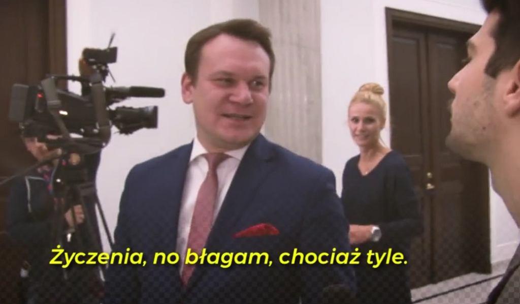 Dominik Tarczyński i jego 'życzenia'