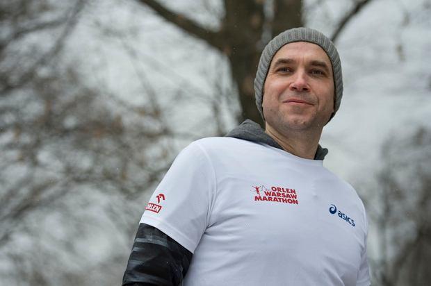 W jednym z treningów do Orlen Warsaw Marathon brał udział również aktor Marcin Dorociński.