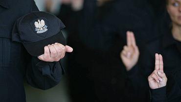 Uroczyste ślubowanie przyjętych do służby policjantów