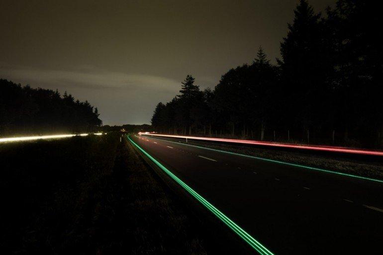 Glowing Lines - świecące pasy na holenderskiej drodze