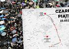 Czarny Piątek w Warszawie. Manifestacje zaczną się o 14, ale najtrudniej będzie po 16