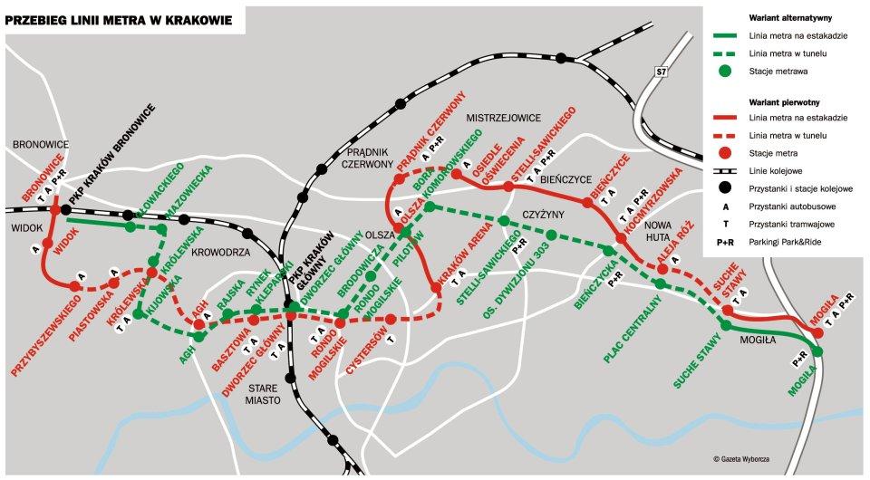Wariant przebiegu linii metra