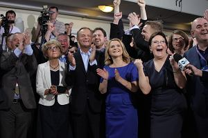 Wybory europejskie poprawi�y szanse na sukces PO w Sejmie. Przewaga nad PiS ro�nie