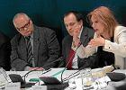 Od lewej: Jerzy Hausner, Stanisław Kluza, Elżbieta Mączyńska podczas debaty ekonomicznej