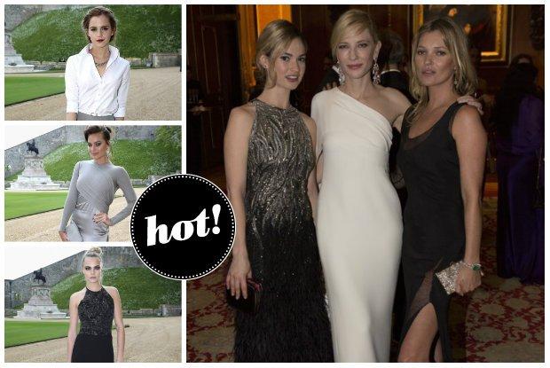 Kate Moss, Cate Blanchett, Emma Watson, Margot Robbie i inne gwiazdy na uroczystej kolacji u ksi�cia Williama