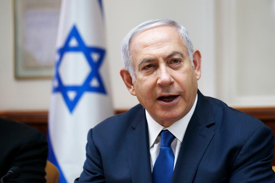 Premier Izraela Benjamin Netanyahu. Jeruzalem, 15 lipca 2018