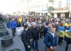 Polska - Ukraina - wsp�lna rodzina. Marsz solidarno�ci w Warszawie