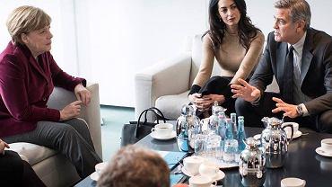 Amal Clooney na spotkaniu z Angelą Merkel