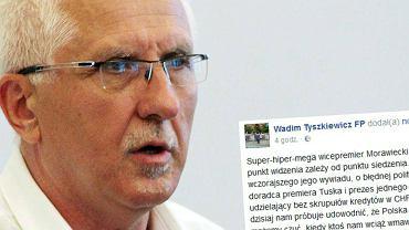 Wadim Tyszkiewicz i jego wpis