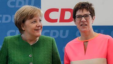 Angela Merkel i Annegret Kramp-Karrenbauer podczas spotkania przywódców CDU w Berlinie, 19 lutego 2018 r.